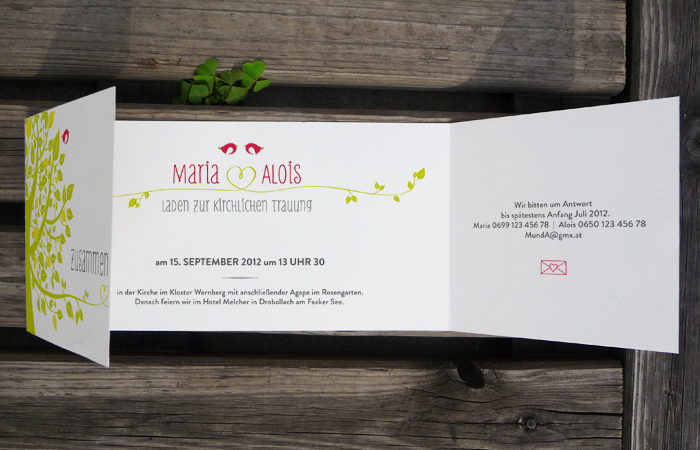Hochzeitseinladung / privat