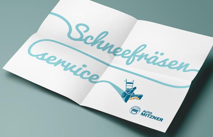 Plakat Schneefräsen Service